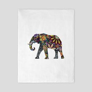 Colorful Elephant Twin Duvet
