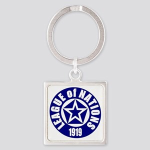 ART League of Nations 1919 Square Keychain