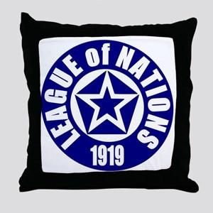 ART League of Nations 1919 Throw Pillow