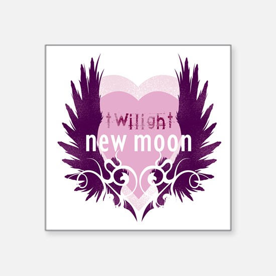 "twilight new moon best new  Square Sticker 3"" x 3"""