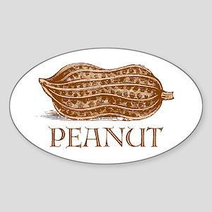 PEANUT -- Oval Sticker