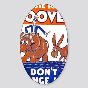 ART vote for hoover Sticker (Oval)