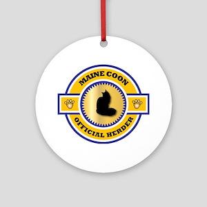 Maine Coon Herder Ornament (Round)