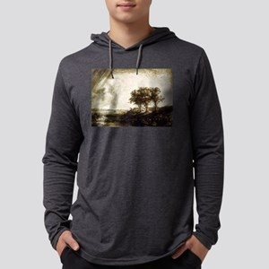The three trees - Rembrandt - 1643 Mens Hooded Shi
