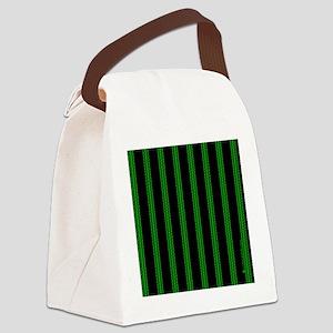 menswalletgrnpinstripe Canvas Lunch Bag