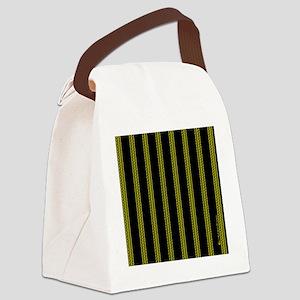 menswalletyelopinstripe Canvas Lunch Bag