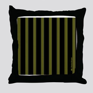 menswalletyelopinstripe Throw Pillow