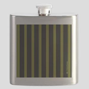 menswalletyelopinstripe Flask