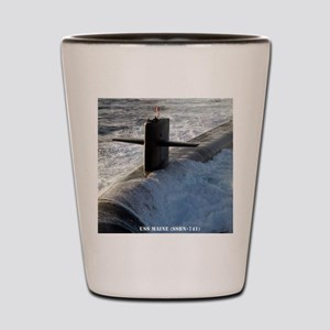 maine framed panel print Shot Glass