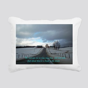 A Break In The Clouds Rectangular Canvas Pillow