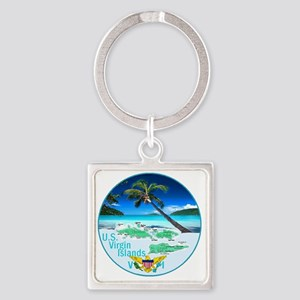 VIRGIN ISLANDS Square Keychain
