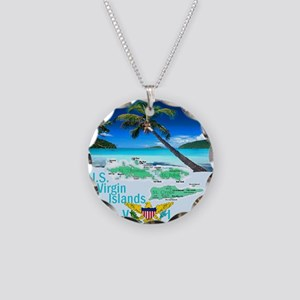 VIRGIN ISLANDS Necklace Circle Charm