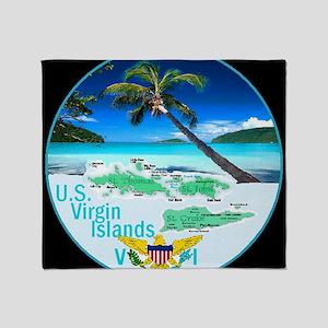 VIRGIN ISLANDS Throw Blanket