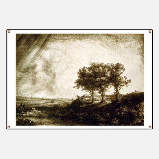 The three trees - Rembrandt - 1643 Banner
