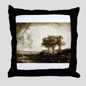The three trees - Rembrandt - 1643 Throw Pillow