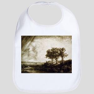 The three trees - Rembrandt - 1643 Cotton Baby Bib