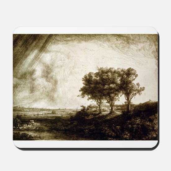 The three trees - Rembrandt - 1643 Mousepad