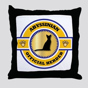 Abyssinian Herder Throw Pillow