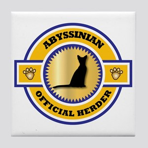 Abyssinian Herder Tile Coaster