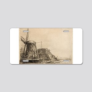 The Windmill - Rembrandt - c1641 Aluminum License