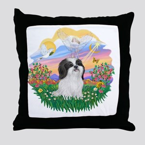 Guardian-ShihTzu(WB) Throw Pillow