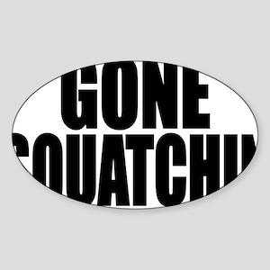 bobo squatchin Sticker (Oval)