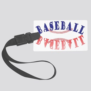 baseball. Large Luggage Tag
