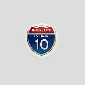 Interstate 10 - Louisiana Mini Button