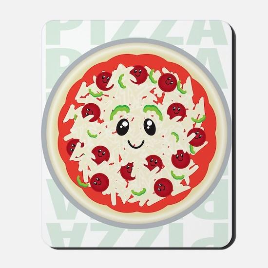 happy pizza Mousepad