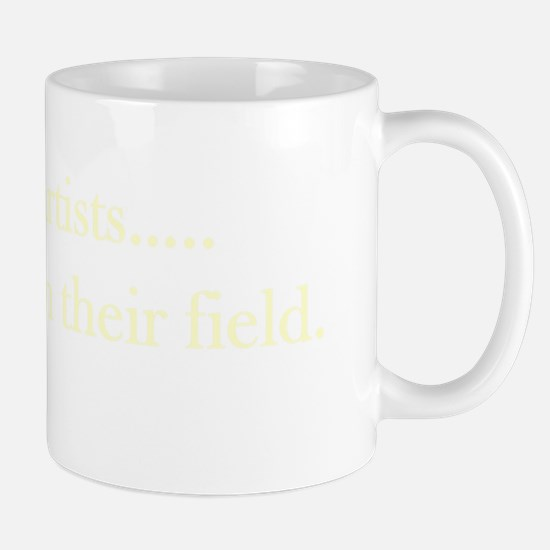 Outstanding in their field cream Mug