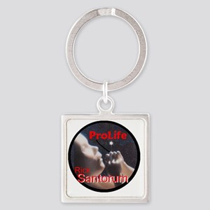 Santorum ProLife Square Keychain
