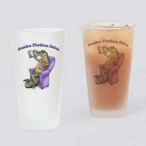 Gator Logo with Words Drinking Glass