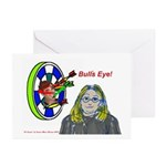 Bad Boss Bull's Eye Greeting Cards (Pk of 10)