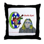 Bad Boss Bull's Eye Throw Pillow
