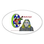 Bad Boss Bull's Eye Oval Sticker