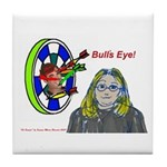 Bad Boss Bull's Eye Tile Coaster