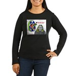 Bad Boss Bull's Eye Women's Long Sleeve Dark T-Shi