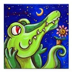 A Crocodile In Love With The Moon - Sq. Magnet 3X3