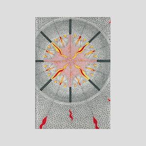 ElegbaraBorder5inch Rectangle Magnet