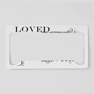 Always Love-tree spirals License Plate Holder
