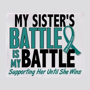 D My Battle Too Sister Ovarian Cance Throw Blanket