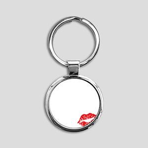 kissmyassdrk copy Round Keychain