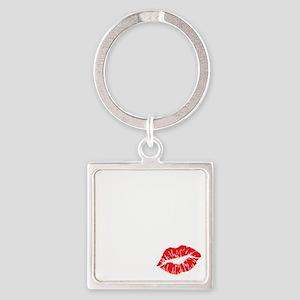 kissmyassdrk copy Square Keychain