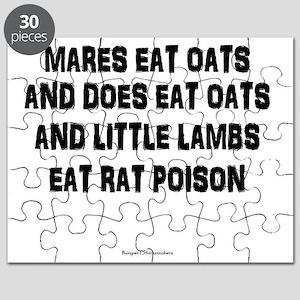 Mares Eat Oats Puzzle