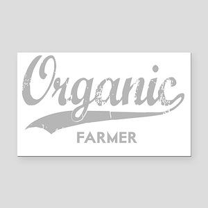 Organic Farmer for dark Rectangle Car Magnet