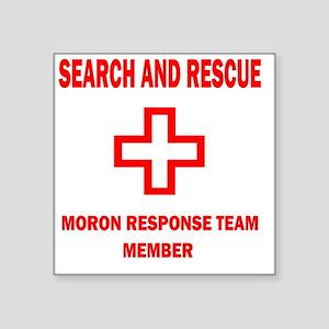 """rescue WHTEDGESEARCHRESCUE2 Square Sticker 3"""" x 3"""""""