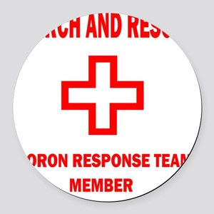 rescue WHTEDGESEARCHRESCUE2Kx2Kbl Round Car Magnet