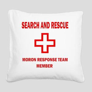 rescue WHTEDGESEARCHRESCUE2Kx Square Canvas Pillow