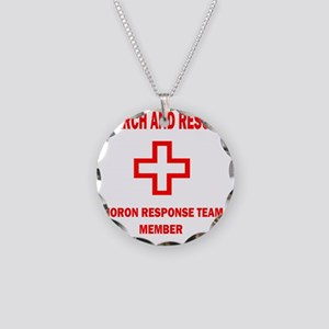 rescue WHTEDGESEARCHRESCUE2K Necklace Circle Charm