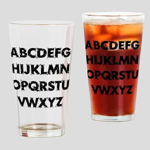 Aphabet Drinking Glass